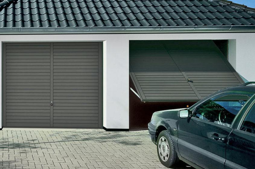 Подъемно-поворотная конструкция в гараже