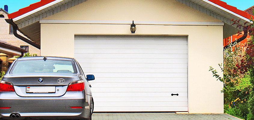 Ворота, встроенные в гараж