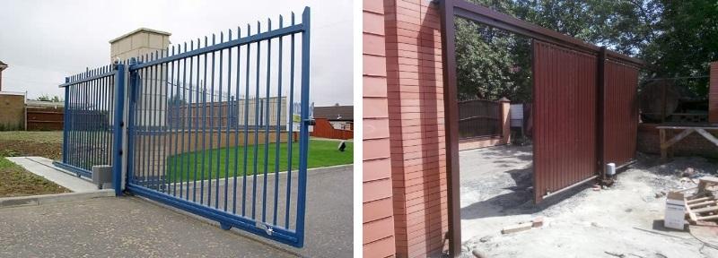 Фото въездных металлических ворот