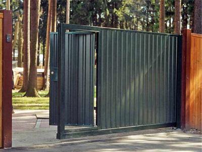 Ворота с раздвижным полотном